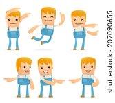 set of mechanic character in...   Shutterstock .eps vector #207090655