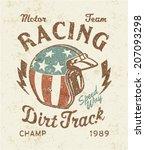 dirt track racing    vector... | Shutterstock .eps vector #207093298