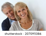 portrait of senior couple... | Shutterstock . vector #207095386