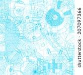 architectural blueprint. vector ... | Shutterstock .eps vector #207097366