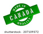 made in canada | Shutterstock . vector #207109372