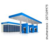 filling station with a small... | Shutterstock .eps vector #207109975