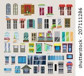 set of windows   vector | Shutterstock .eps vector #207111286