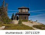 Old Fire Lookout Station In Th...
