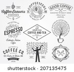 coffee badges black | Shutterstock .eps vector #207135475