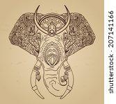 vector abstract elephant in...   Shutterstock .eps vector #207141166