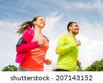 fitness  sport  friendship and... | Shutterstock . vector #207143152