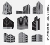 building icon set. vector... | Shutterstock .eps vector #207145882