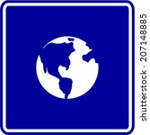 planet earth sign | Shutterstock .eps vector #207148885
