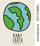 earth design over beige... | Shutterstock .eps vector #207154882