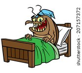 bed bug in bed | Shutterstock .eps vector #207157372