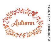 word autumn in watercolor... | Shutterstock .eps vector #207178462
