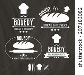 set of retro bakery labels ... | Shutterstock .eps vector #207183082