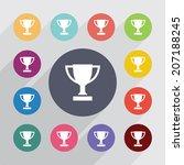 shovel circle  flat icons set....   Shutterstock .eps vector #207188245