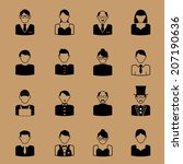 people career icon character set | Shutterstock .eps vector #207190636