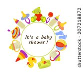 baby background with place for... | Shutterstock .eps vector #207218872