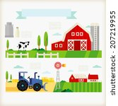 info graphics of farm | Shutterstock .eps vector #207219955