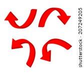 3d circular red arrow | Shutterstock .eps vector #207249205