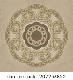 vintage ornament on the old... | Shutterstock .eps vector #207256852
