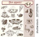 food drinks fruit vegetable set ... | Shutterstock .eps vector #207259378