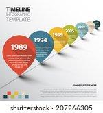 vector infographic timeline... | Shutterstock .eps vector #207266305