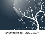 abstract winter night | Shutterstock .eps vector #20726674