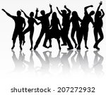 dancing people silhouettes | Shutterstock .eps vector #207272932