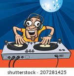 cartoon party dj | Shutterstock . vector #207281425