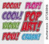 pop art design over white...   Shutterstock .eps vector #207283846