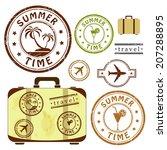 Summer Time  Retro Grunge...