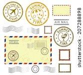 summer time  set of postal... | Shutterstock .eps vector #207288898