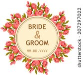 wedding invitation cards with... | Shutterstock .eps vector #207297022