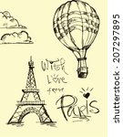 with  love from paris     Shutterstock .eps vector #207297895