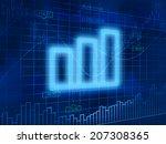 chart symbol on finance...   Shutterstock . vector #207308365