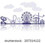 amusement park vector... | Shutterstock .eps vector #207314122