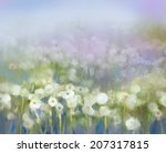 Abstract Oil Painting White...