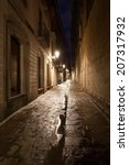 Narrow Alley At Night In The...