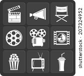 set of 9 cinema web and mobile... | Shutterstock . vector #207324952