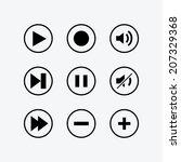 modern media icons   vector for ... | Shutterstock .eps vector #207329368