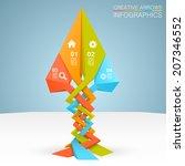 tree arrows business growth ... | Shutterstock .eps vector #207346552