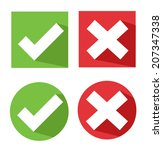 vector check mark icons | Shutterstock .eps vector #207347338