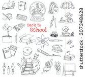 back to school doodles   hand... | Shutterstock .eps vector #207348628