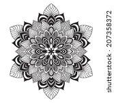 contemporary celtic knot doily...   Shutterstock .eps vector #207358372