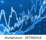 stock market graph on the