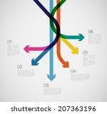 different way infographics  ... | Shutterstock .eps vector #207363196