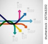 different way infographics  ... | Shutterstock .eps vector #207363202