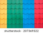colorful metal sheet of roof... | Shutterstock . vector #207369322