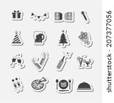 party icon set | Shutterstock .eps vector #207377056