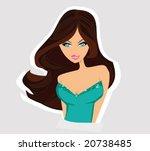 glamour girl | Shutterstock .eps vector #20738485