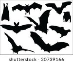 bats silhouette collection... | Shutterstock .eps vector #20739166